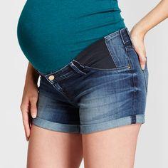 Maternity Inset Panel Jean Shorts - Isabel Maternity™ by Ingrid & Isabel® Dark Wash : Target