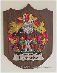 Brasão Família Camacho Debora J. Tozze Artes - Latonagem Coat of Arms Camacho