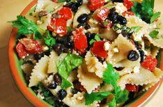 Black Bean, Tomato, and Feta Pasta Salad