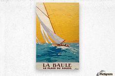 La Baule La Plage du Soleil vintage poster - VINTAGE POSTER  - Canvas