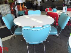 COOL Retro Dinettes are Made in Canada since Sold by Anmarcos Furniture in Courtenay and shipped all over Canada and the USA. The best Retro Furniture ever! Pick you colour, pick your style!