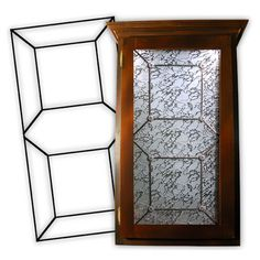 Order your Cabinet Glass Inserts from Woelky's Glass Studio. We make all of our Leaded Glass Cabinet Door Insert designs to fit your esisting door size Leaded Glass Cabinets, Glass Cabinet Doors, Wood Cabinets, Kitchen Cabinets, Curtains With Blinds, Glass Design, Glass Panels, Window Treatments, Stained Glass