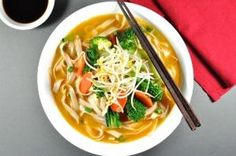 THE BEST Vegan Noodle Soup! Vegetarian Dan Dan Noodle Soup - on the table in 15 min, < it's a flavour explosion in a bowl. I want the soup stock on tap! Seitan, Tempeh, Chinese Soup Recipes, Asian Recipes, Ethnic Recipes, Vegetarian Recipes, Cooking Recipes, Healthy Recipes, Vegan Soups
