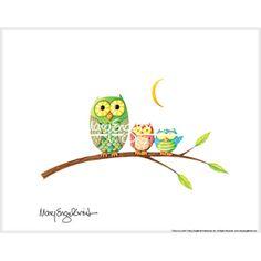 """""""Owls on a Limb"""" Fine Print"""