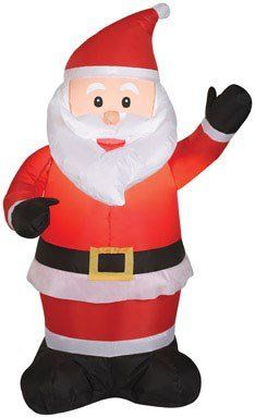 Add a warm glow to your lawn this Christmas with this LED light-up Santa  Claus. f2584c186