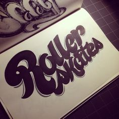 Lettering Daily: Roller Skates! Inspired by 70's #lettering