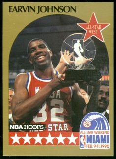 71f647b7a11 LOS ANGELES LAKERS 1990 HOOPS ALL-STAR EARVIN MAGIC JOHNSON NMMT FREE  SHIPPING  LosAngelesLakers