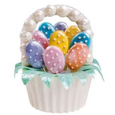 Use the Dimensions® Giant Cupcake Pan to mold a candy Easter Basket of epic proportions! Fill it with cookie egg lollipops for a special springtime treat that is perfect used as a centerpiece. From Wilton.com