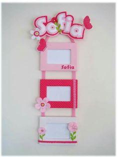 Kids Crafts, Baby Crafts, Felt Crafts, Diy And Crafts, Arts And Crafts, Frame Crafts, Diy Frame, Photo Frame Ornaments, Felt Diy