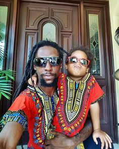 Jah Cure and daughter