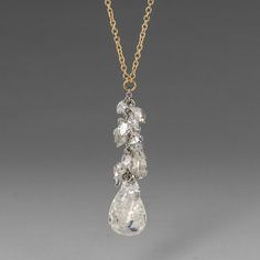 Casual Diamond Waterfall Necklace,Todd Pownell