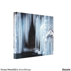 Frozen Waterfall Gallery Wrap Canvas