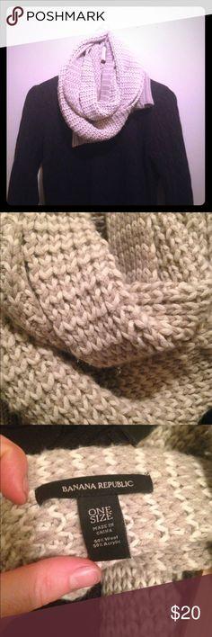 Beige Banana Republic scarf Long, thick, beige Banana Republic knitted scarf. Banana Republic Accessories Scarves & Wraps