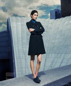"Janice Alida in ""French Lessons"" for S Style & Fashion by Benjamin Kanarek, Fall 2013  Video and more on BKBlog http://www.benjaminkanarekblog.com/k30i"