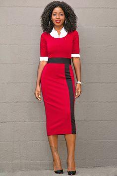 Style Pantry | Button Down Shirt + Contrast Midi Dress