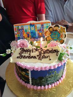 "My mom's custom ""It's a Small World Cake""!"
