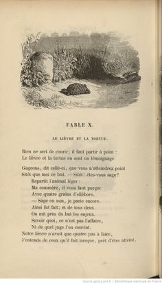 Fables de La Fontaine. 1 / éd. illustrée par J. David, T. Johannot, V. Adam, F. Grenier et Schaal ; précédées d'une Notice historique par le baron Walckenaer, 1842 Expression Populaire, Les Fables, Chamomile Tea, Stories For Kids, French Language, Wwi, Poetry, Childhood, David