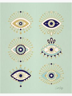 """Evil Eye Collection"" Poster by catcoq 