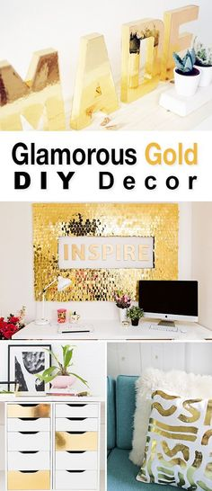 Glamorous Gold DIY Decor Projects • Tutorials to bring the glam of gold into your home decor!