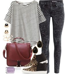 Aria Montgomery inspired outfit by liarsstyle featuring high top shoes
