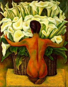Diego Rivera Nude with Calla Lilies art painting for sale; Shop your favorite Diego Rivera Nude with Calla Lilies painting on canvas or frame at discount price. Diego Rivera Art, Diego Rivera Frida Kahlo, Frida E Diego, Frida Art, Calla Lillies, Calla Lily, Mexican Art, Oeuvre D'art, Love Art