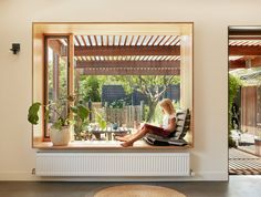 Gallery of Inside Out House by Breathe Architecture / The Local Project Inside Out House-Breathe Architecture-The Local Project-Australian Architecture & Design-Image 2 House Design, House, Home, Windows, House Inspiration, Bay Window, Australian Architecture, Window Seat, Brick Veneer