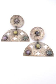 Martha Sturdy, Canada - original 1980s large scale earrings