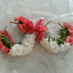 Fresh Orange And White Floral Bangles By Bridal Flower Jewellery