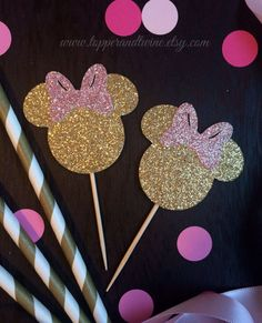"""Minnie Mouse / Birthday """"Pink and Gold 2nd Birthday""""   Minnie…"""