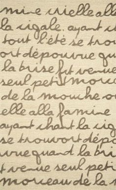 French poem / script area rug