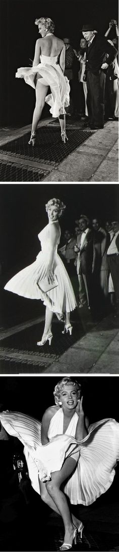 """Marilyn Monroe on the set of """"The Seven Year Itch"""" 1955"""