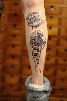 poppy tattoo newtattoo洁子 http://tattooideas247.com/flower-tattoos