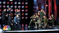 """Home Free vs. The Filharmonic: """"I'm Alright""""  on The Sing-Off, Season 4, Episode 5.  This was so much FUN!  This match off was so tight and well done."""