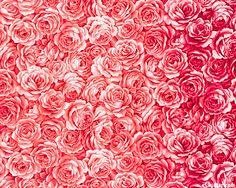 Joie De Vivre - OMBRE Bed of Roses - Cool Rose Pink