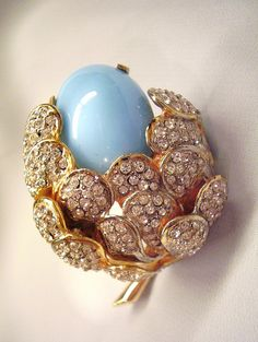 kenneth jay lane strawberry pin   Kenneth Jay Lane - Brooch/Pin Stunning Floral Design Early ...