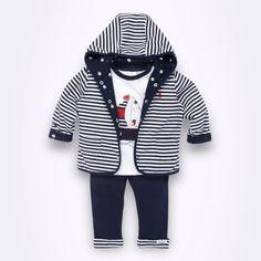 Striped jacket.