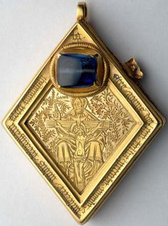 The Middleham Jewel is a late 15th-cenutry diamond-shaped gold pendant made by the finest medieval goldsmiths in London. It was found in 1985 near the Midd