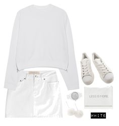 """""""white."""" by emilykatephilip on Polyvore featuring MICHAEL Michael Kors, Marc by Marc Jacobs, Acne Studios, Tuleste, adidas, women's clothing, women, female, woman and misses"""