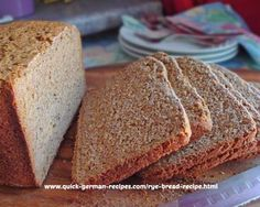 German rye bread using a bread machine. How easy is that! http://www.quick-german-recipes.com/rye-bread-recipe.html