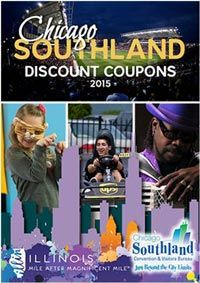 The 2015 Chicago Southland Discount Coupon Book has 53 coupons offering great specials on dining, attractions, things to see and do, and services in the Chicago Southland, the 2015 Coupon Book is a wonderful compliment to the Visitors Guide to help keep your getaway budget-friendly. The Coupon Book is distributed to visitors from out of town at local area hotels and visitor information centers, as well as sent to visitor inquiries. - See more here. Information Center, The Visitors, Compliments, Attraction, Coupons, Budgeting, Chicago, Hotels, Entertainment