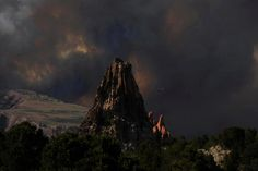 So sad. My sister-in-law's wedding was at this lovely spot. #COFire at Garden of the Gods Colorado Springs #WaldoCanyonFire