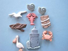 Beach Lighthouse Craft Novelty Sewing Buttons by FireflyCabin, $2.30