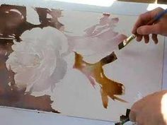 Yellow Rose Watercolor Demo part 2