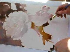 Yellow Rose Watercolor Demo part 2