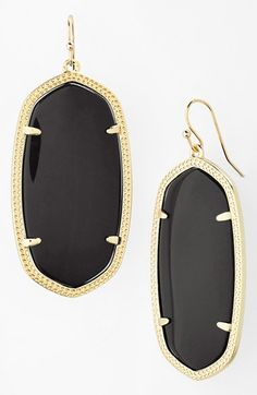 Kendra Scott 'Danielle - Large' Oval Statement Earrings in white mother of pearl available at #Nordstrom