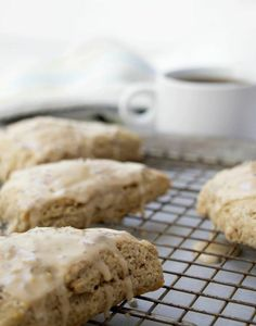 Lemon Chai Scones with Coffee Icing- perfect recipe for spring!