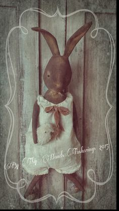 ByThyHandsTinkerings: Little Brenton Bunny and his Sweet Peep~ Now SOLD