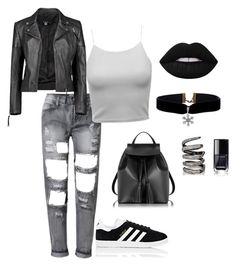 """""""Daily ;)"""" by eredi ❤ liked on Polyvore featuring Boohoo, adidas, Le Parmentier and Fallon"""