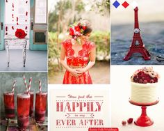 Raspberry Pomegranate Bliss Wedding Inspiration Board | Rustic Folk Weddings