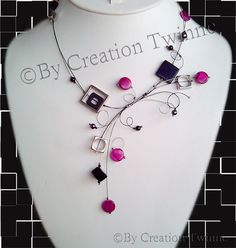 fuchsia black necklacewedding necklace